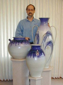 Mike Stoy with large pots